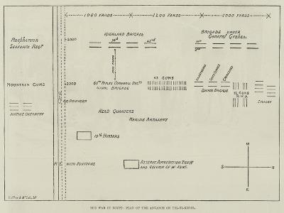 The War in Egypt, Plan of the Advance on Tel-El-Kebir--Giclee Print
