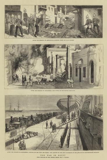 The War in Egypt-Charles Edwin Fripp-Giclee Print