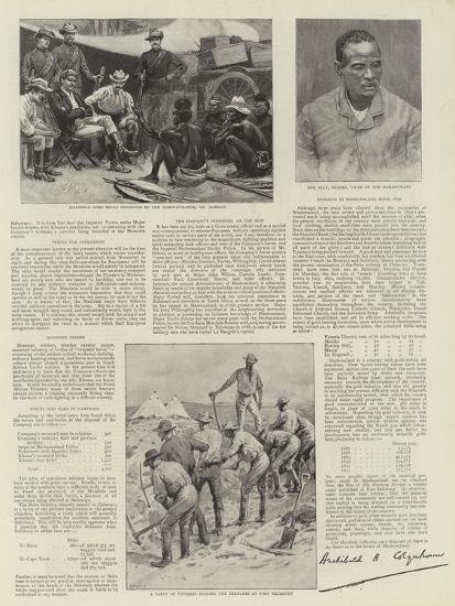 The War in Matabele-Land--Giclee Print