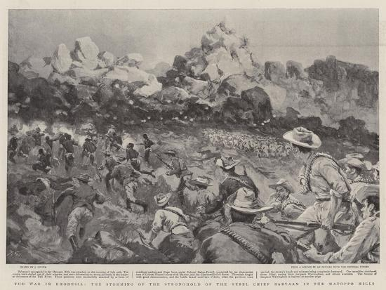 The War in Rhodesia, the Storming of the Stronghold of the Rebel Chief Babyaan in the Matoppo Hills--Giclee Print