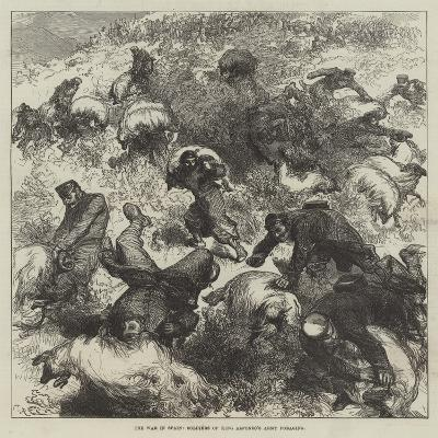 The War in Spain, Soldiers of King Alfonso's Army Foraging-Charles Robinson-Giclee Print