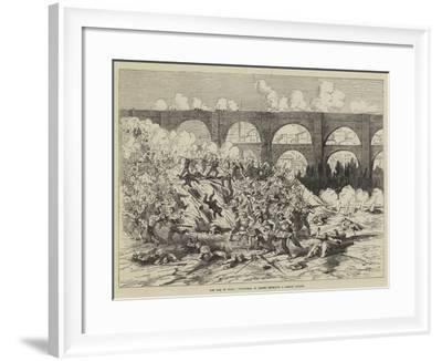 The War in Spain, Volunteers of Teruel Repelling a Carlist Attack--Framed Giclee Print