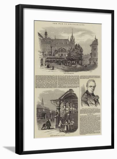 The War in Switzerland--Framed Giclee Print