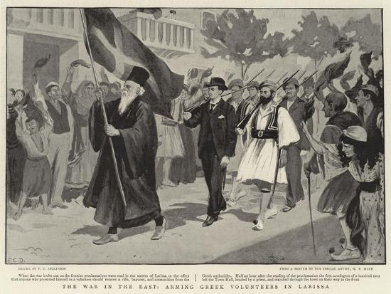 The War in the East, Arming Greek Volunteers in Larissa--Giclee Print