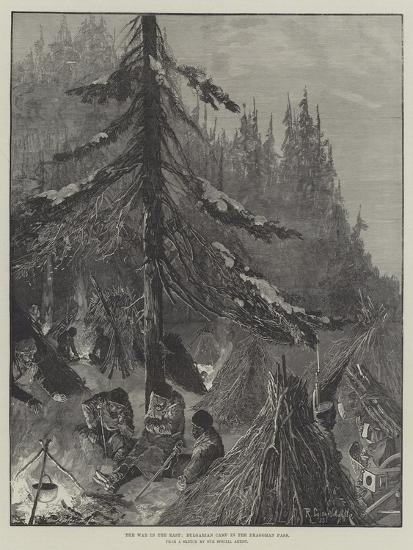 The War in the East, Bulgarian Camp in the Dragoman Pass-Richard Caton Woodville II-Giclee Print