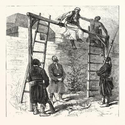 The War in the East: Execution of a Bulgarian Insurgent at Widin, 1876--Giclee Print