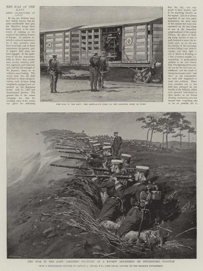 The War in the East, Japanese Infantry at a Review Defending an Intrenched Position--Giclee Print
