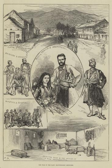 The War in the East, Montenegrin Sketches-Charles Robinson-Giclee Print