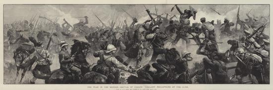 The War in the Soudan, Battle of Tamasi, Gallant Re-Capture of the Guns-William Heysham Overend-Giclee Print