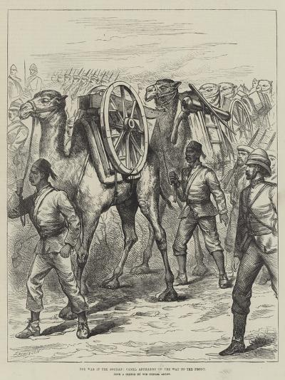 The War in the Soudan, Camel Artillery on the Way to the Front--Giclee Print
