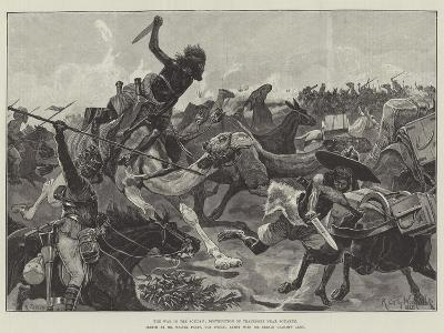 The War in the Soudan, Destruction of Transport Near Souakim-Richard Caton Woodville II-Giclee Print