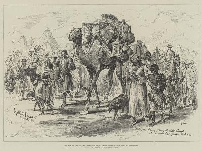 The War in the Soudan, Refugees from Tokar Brought into Camp at Trinkitat-Melton Prior-Giclee Print
