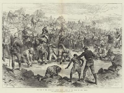 The War in the Soudan, the Desert March, Scene at the Wells of Abou Halfa-Melton Prior-Giclee Print
