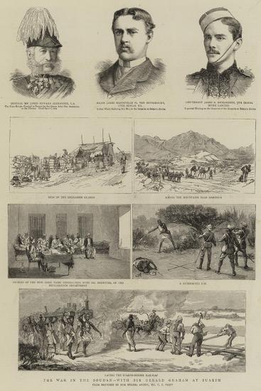 The War in the Soudan, with Sir Gerald Graham at Suakim-Charles Edwin Fripp-Giclee Print
