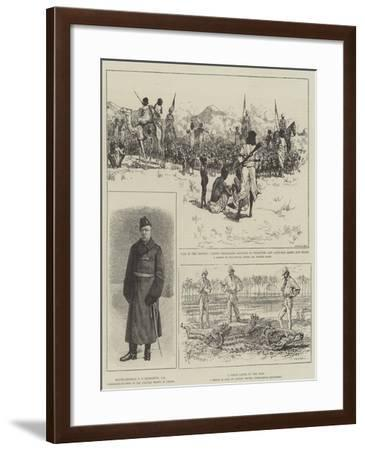 The War in the Soudan-Alfred Courbould-Framed Giclee Print