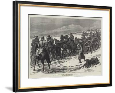 The War in Turkey, Artillery of the Russian Imperial Guard on the March--Framed Giclee Print