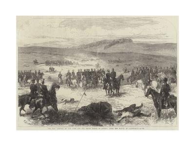 The War, Meeting of the King and the Crown Prince of Prussia after the Battle of Sadowa--Giclee Print