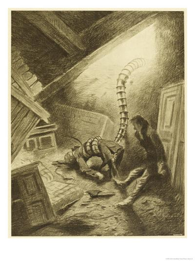 The War of the Worlds, a Martian Handling-Machine, Finds a Victim-Henrique Alvim Corr?a-Giclee Print