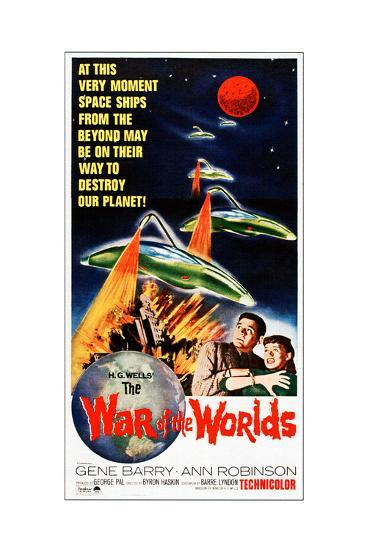 The War of the Worlds, Bottom from Left: Gene Barry, Ann Robinson on 1965 Poster Art, 1953--Giclee Print