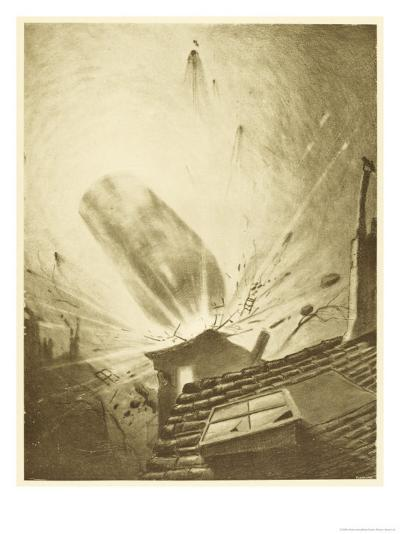 The War of the Worlds, The Fall of the Fifth Martian Cylinder-Henrique Alvim Corr?a-Giclee Print