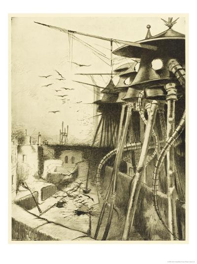 The War of the Worlds, The Fighting-Machines, Harmless Without Their Martian Crews-Henrique Alvim Corr?a-Giclee Print