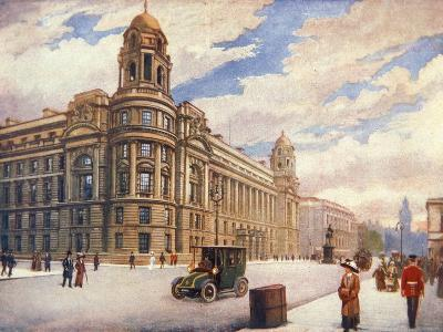 The War Office in Whitehall, London, 1913--Giclee Print