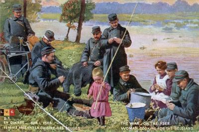 The War on the Yser, French WWI Postcard, 1914-1918--Giclee Print