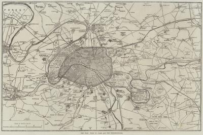 The War, Plan of Paris and the Fortifications--Giclee Print