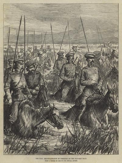 The War, Reconnaissance of Cossacks on the Matchin Road--Giclee Print