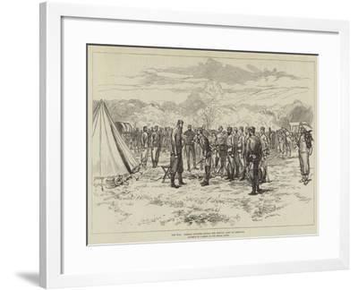 The War, Russian Officers Joining the Servian Army at Greovatz--Framed Giclee Print