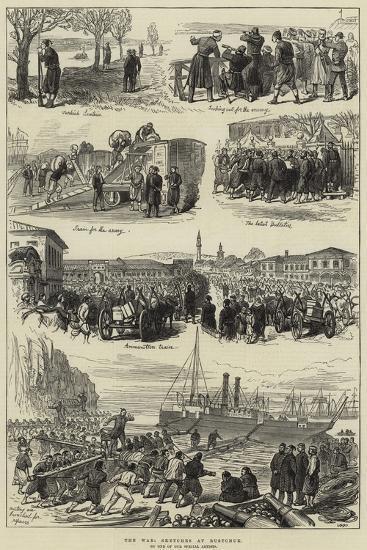 The War, Sketches at Rustchuk--Giclee Print