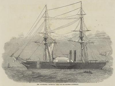The War-Steamer Governole, Built for the Sardinian Government-Edwin Weedon-Giclee Print
