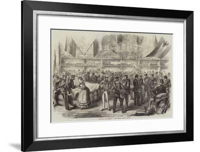 The War, the Farewell, at the Potsdam Railway Station--Framed Giclee Print