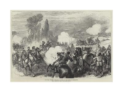 The War, Turkish Artillery at Work at the Battle of Kaceljevo--Giclee Print