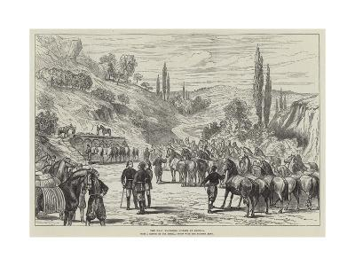 The War, Watering Horses at Shumla--Giclee Print