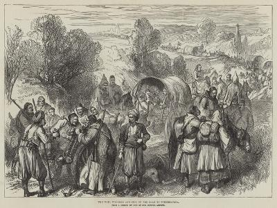 The War, Wounded and Sick on the Road to Tchernavoda--Giclee Print