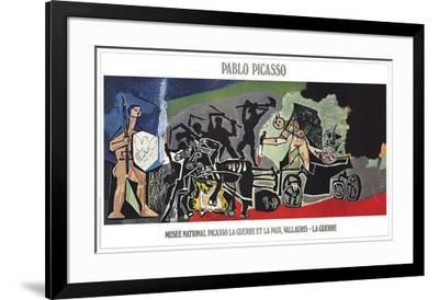 The War-Pablo Picasso-Framed Lithograph