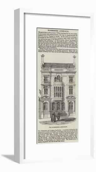 The Warminster Athenaeum--Framed Giclee Print