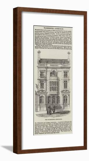The Warminster Athenaeum--Framed Giclee Print