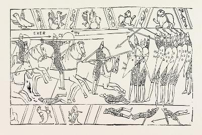 The Warriors of Hastings from the Bayeux Tapestry--Giclee Print
