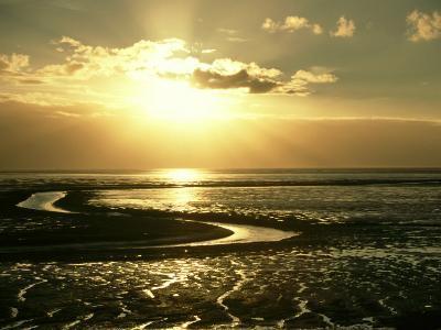The Wash at Sunset, View Across Mudflats and Channels Snett Isham, North Norfolk-Mark Hamblin-Photographic Print