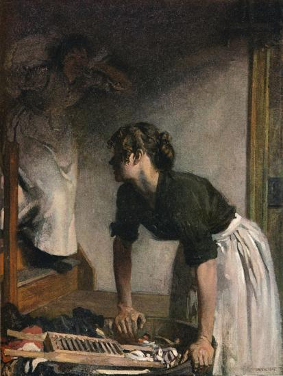 The Wash-House, 1905,-William Newenham Montague Orpen-Giclee Print