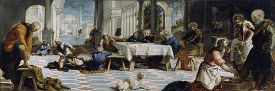 The Washing of the Feet, c.1547-Jacopo Robusti Tintoretto-Giclee Print
