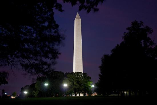 The Washington Monument at Dusk-Vickie Lewis-Photographic Print