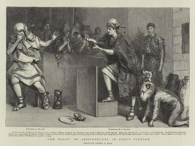 The Wasps of Aristophanes at King's College-Sydney Prior Hall-Giclee Print