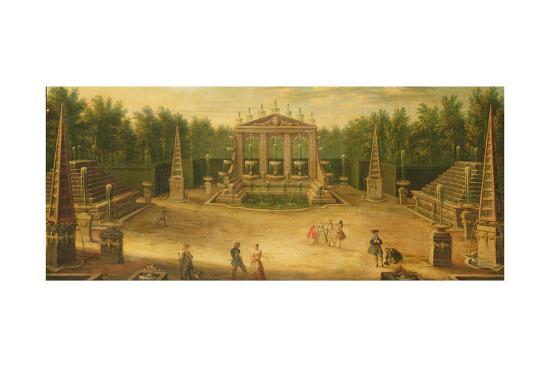 The Water Alley and the Dragon Fountain, Versailles--Giclee Print