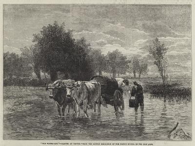The Water-Cart-Constant-emile Troyon-Giclee Print