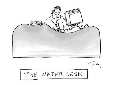The Water Desk - New Yorker Cartoon-Mike Twohy-Premium Giclee Print