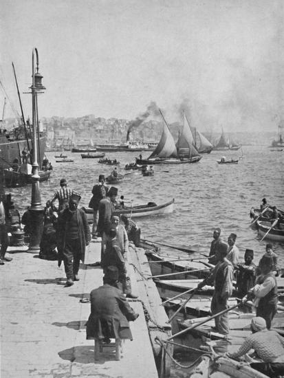 'The Water-front of Stamboul, with Pera in the distance', 1913-Unknown-Photographic Print