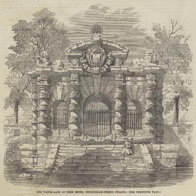 The Water-Gate of York House, Buckingham-Street, Strand--Giclee Print
